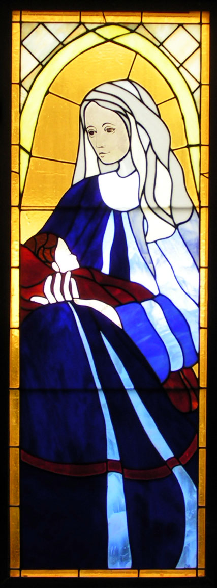 Our Lady of Peace stained glass window